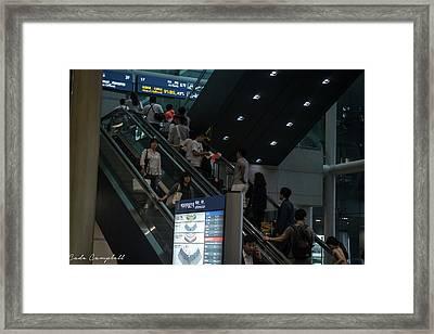 Incheon Rushhout Framed Print