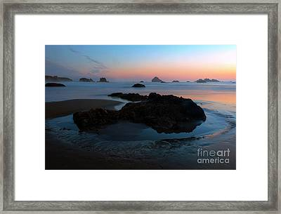 Incircled By The Sea Framed Print by Mike Dawson