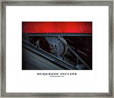 Incline Wheel Framed Print by Eclectic Art Photos