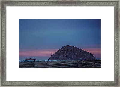 Incoming Blue Framed Print