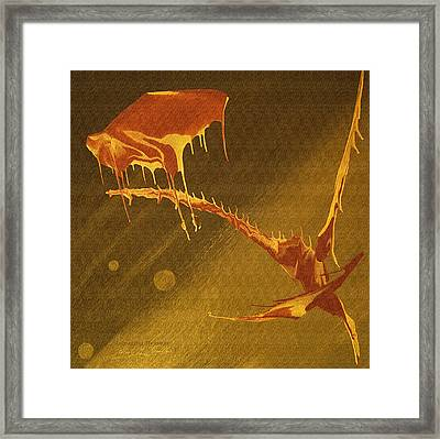 Framed Print featuring the painting Incoming Message by Robert G Kernodle