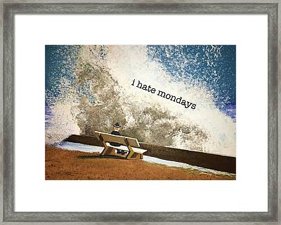 Incoming - Mondays Framed Print by Thomas Blood