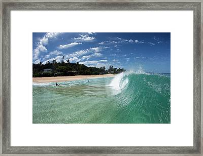 Incoming Framed Print by Sean Davey