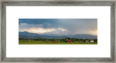 Framed Print featuring the photograph Incoming Storm Panorama View by James BO Insogna