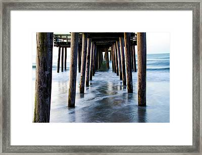 Incoming Tide - 32nd Street Pier Avalon Framed Print by Bill Cannon