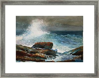 Incoming Tide Scarboro Maine Framed Print