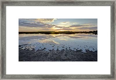 Incoming Tide Sunrise Reflection Framed Print