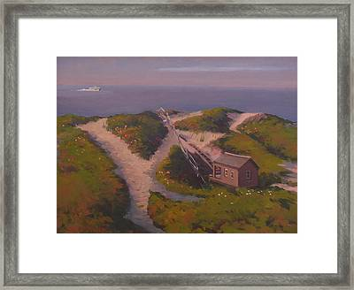 Incoming To Steps Beach Framed Print