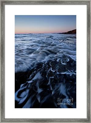 Incoming Waves Framed Print by Masako Metz