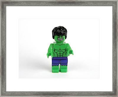 Incredible Green Guy Framed Print