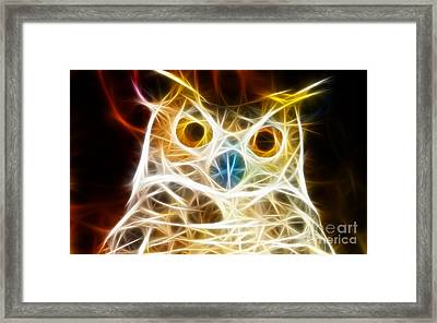 Incredible Owl Portrait Framed Print