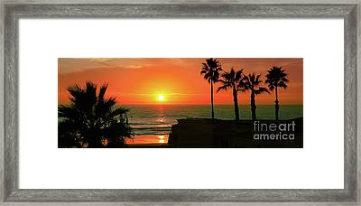 Incredible Sunset View Framed Print