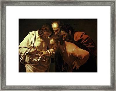 Incredulity Of Saint Thomas Framed Print