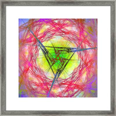 Incrusaded Framed Print
