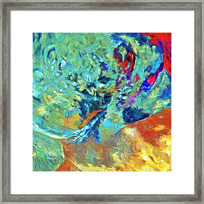 Framed Print featuring the painting Incursion by Dominic Piperata