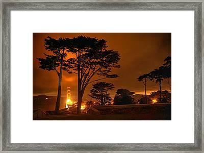 Indeed The Bridge Is Golden Framed Print