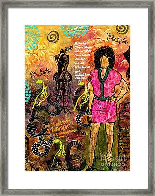 Indefatigable - Even In Heels   Framed Print by Angela L Walker