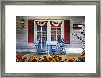 Independence Day Framed Print by Debra and Dave Vanderlaan