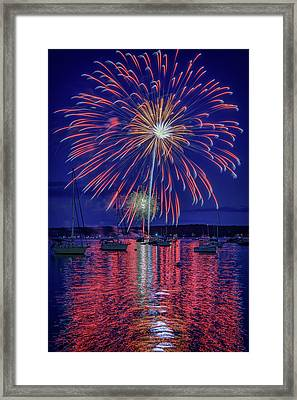 Independence Day In Boothbay Harbor Framed Print
