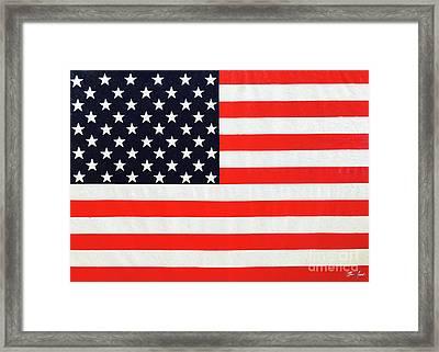 Pooling Independence Day Large Scale Oil On Canvas Original United States Flag Framed Print
