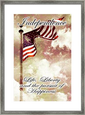 Independence Day Usa Framed Print