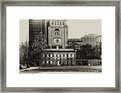 Independence Hall Framed Print by Bill Cannon