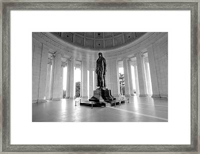 Independence In Black And White Framed Print by Greg Fortier