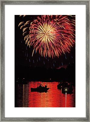 Independence On The Water Framed Print by Jerry Lohman