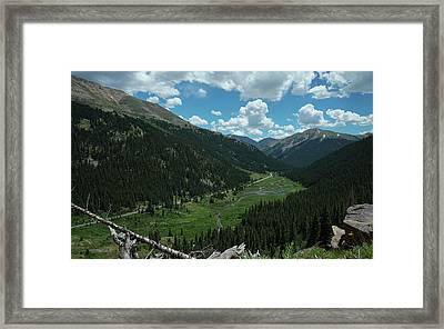 Independence Pass In Summer Framed Print by Daniel Lowe