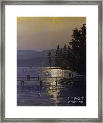 Independence Point, Lake Coeur D'alene Framed Print