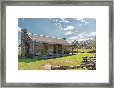 Independence Texas Cabin Framed Print