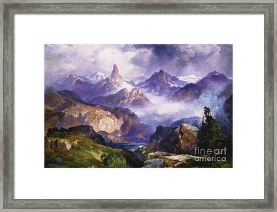 Index Peak Yellowstone National Park Framed Print by Thomas Moran