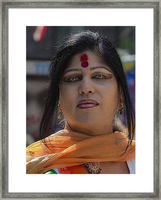 India Day Parade 8_16_15 2015 Woman Framed Print by Robert Ullmann