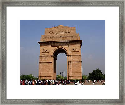 India Gate - New Delhi - India Framed Print