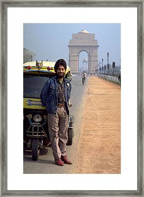 India Gate Framed Print