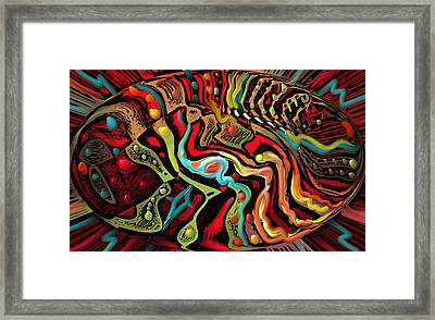 India In The Elipse Framed Print by Kevin Caudill