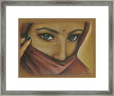 India Woman Framed Print