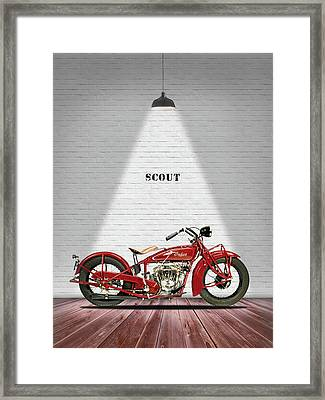 Indian 101 Scout 1929 Framed Print
