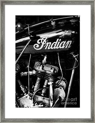 Indian 101 Scout Monochrome Framed Print