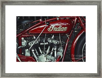 Indian 101 Scout Framed Print
