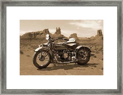 Indian 4 Sidecar Framed Print