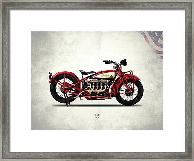 Indian 401 1928 Framed Print by Mark Rogan