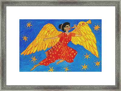 Indian Angel Messenger Framed Print by Sushila Burgess