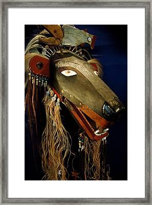 Indian Animal Mask Framed Print