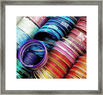 Indian Bangles Framed Print