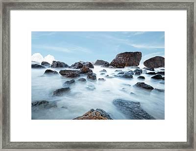 Indian Beach At Ecola State Park, Oregon  Framed Print