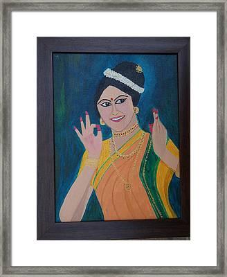 Indian Beauty Framed Print