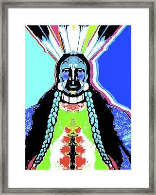 Indian Blue By Nixo Framed Print