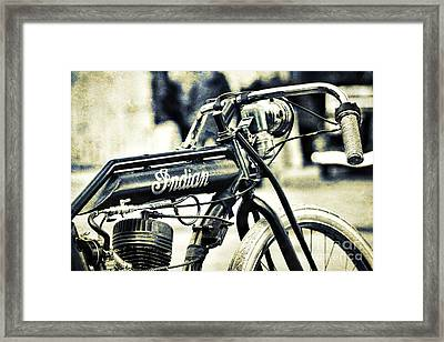 Indian Board Track Bicycle Framed Print