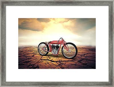 Indian Board Track Racer 1920 Desert Framed Print